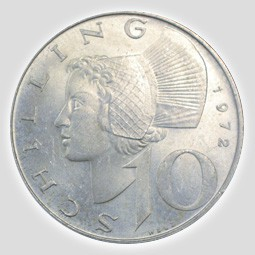 10 Schilling Silber österreich 1957 1973 Differenzbesteuert 24