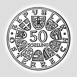 50 Schilling Silber österreich 1959 1973 Altsilber österreich
