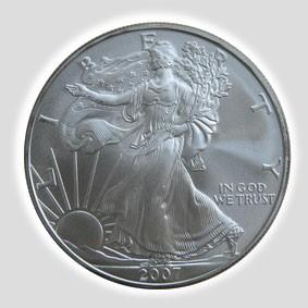 1 Unze American Eagle Silber, Differenzbesteuert § 24 UStG