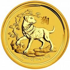 1 Unze Australien Lunar Gold Hund 2018