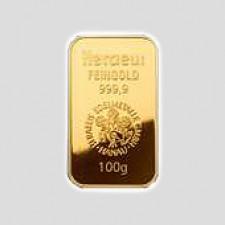 100 Gramm Goldbarren Münze Österreich