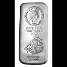 1 Kilogramm Silber Fiji, Niue oder Cook Islands-Silbermünze (Sonderprägung in Barrenform), Differenzbesteuert § 24 UStG