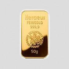 50 Gramm Goldbarren Münze Österreich