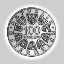 100 Schilling Silber Österreich 1974 - 1979