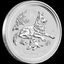 1 Kilogramm Australian Lunar II Hund 2018, Differenzbesteuert § 24 UStG