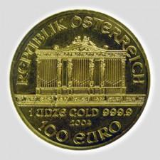 1 Unze Philharmoniker Gold Europrägung